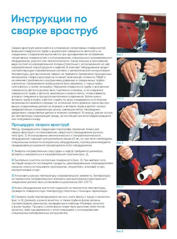 Инструкция по монтажу ПП/ ПВДФ, включая раструбную сварку