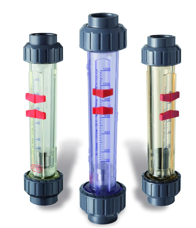 FC ротаметр для воды;  корпус: полисульфон; поплавок с магнитом d25