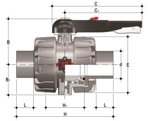 Фото Шаровой кран промышленного применения VKD с втулочными окончаниями, DN65-100 d110 (DN90)