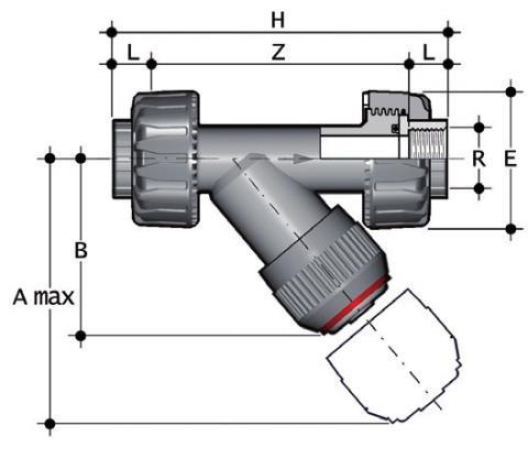 Фото Грязевый фильтр RV с резьбовыми окончаниями R1 1/4'' (DN32)