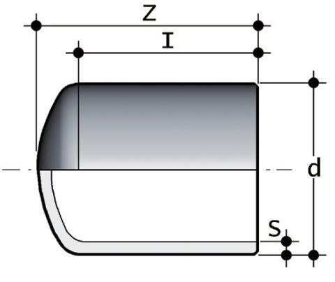 Фото Заглушка для стыковой сварки SDR17-6 PN10 d800