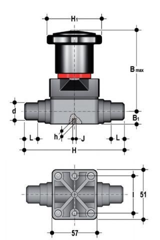 Фото Компактный мембранный клапан CM с втулочными окончаниями d20 (DN15)