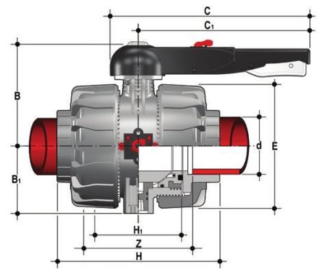Фото Шаровой кран промышленного применения VKD С муфтовыми окончаниями DN65-100 d75 (DN65)
