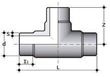 Фото Тройник равнопроходной для стыковой сварки SDR17-6 PN10 d355