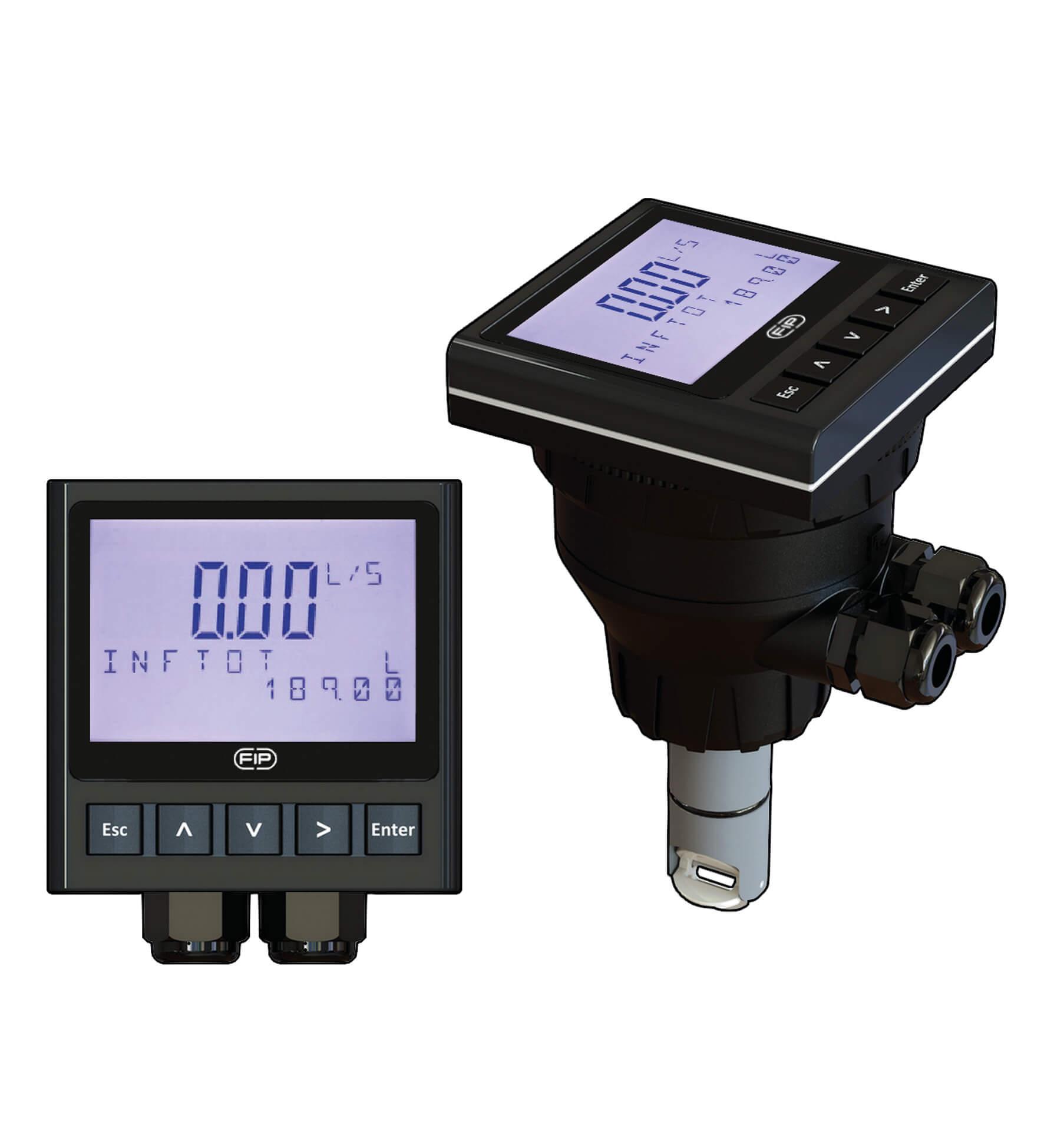 Двухпроводной монитор расхода и преобразователь, настенного монтажа