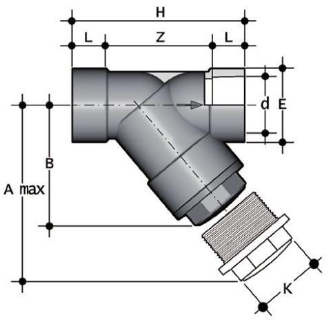 Фото Грязевый фильтр RV с муфтовыми окончаниями; DN65-100 d110 (DN100)