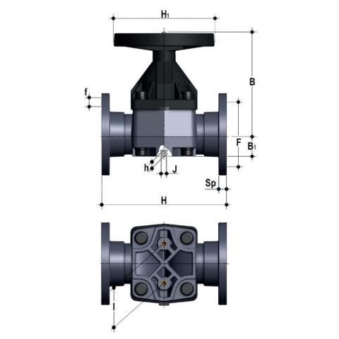 Фото Мембранный клапан VM с фланцевыми окончаниями d90 (DN80)