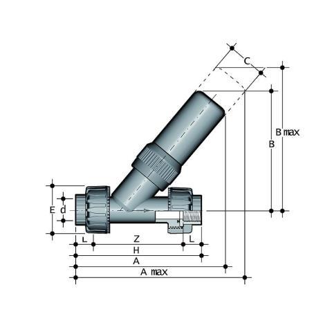 Фото Угловой предохранительный клапан SV с резьбовыми окончаниями R1/2'' (DN15)