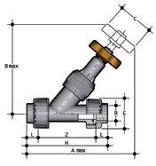 Фото Угловой вентиль VV с резьбовыми окончаниями R1'' (DN25)