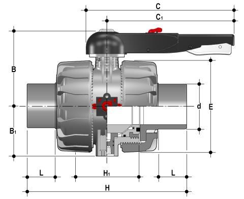 Фото Шаровой кран промышленного применения VKD со втулочными окончаниями, DN65-100 d110 (DN100)