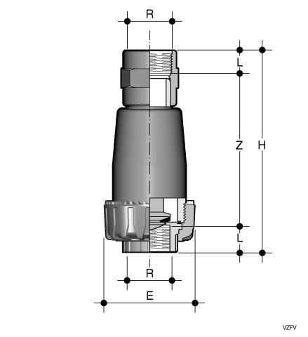 Фото Донный клапан VZ с резьбовыми окончаниями R1'' (DN25)
