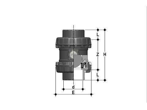 Фото Шаровой обратный клапан SXE; с муфтовыми окончаниями; DN65-100 d90 (DN80)