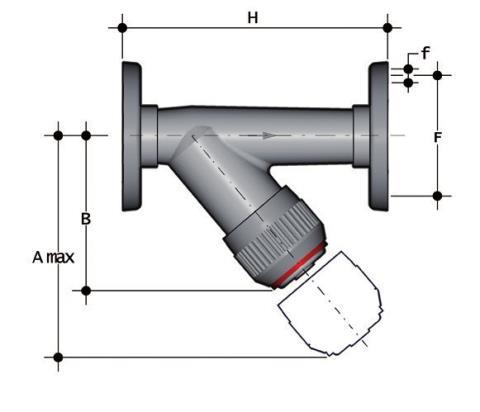 Фото Грязевый фильтр RV с фланцевыми окончаниями, DN65-100 d90 (DN80)