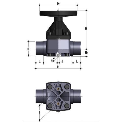 Фото Мембранный клапан VM с втулочными окончаниями d90 (DN80)