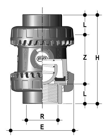 Фото Пружинный шаровой обратный клапан SSE; с резьбовыми окончаниями R11/2'' (DN40)