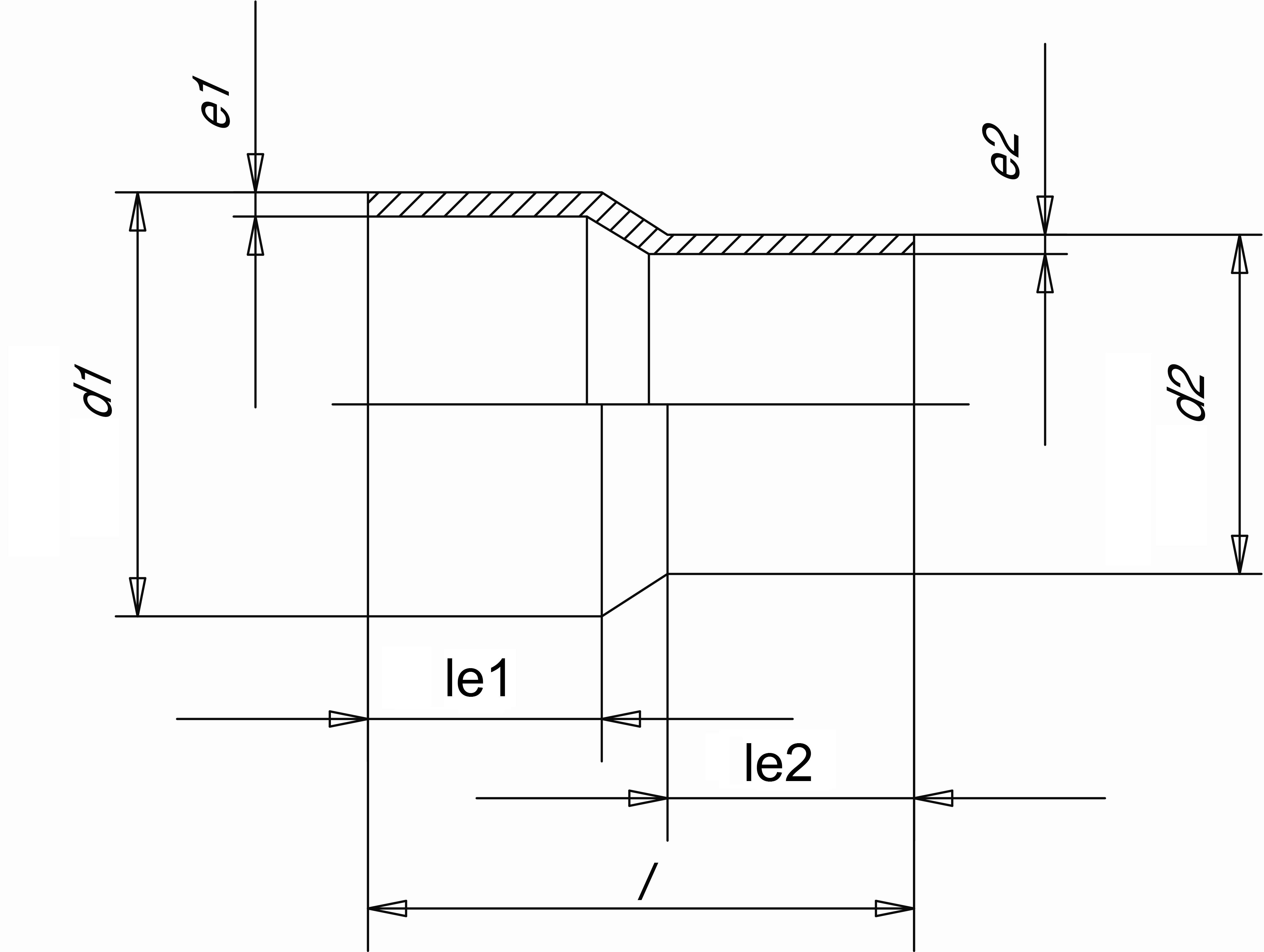 Муфта редукционная (Simona) SDR21 PN16 110x63