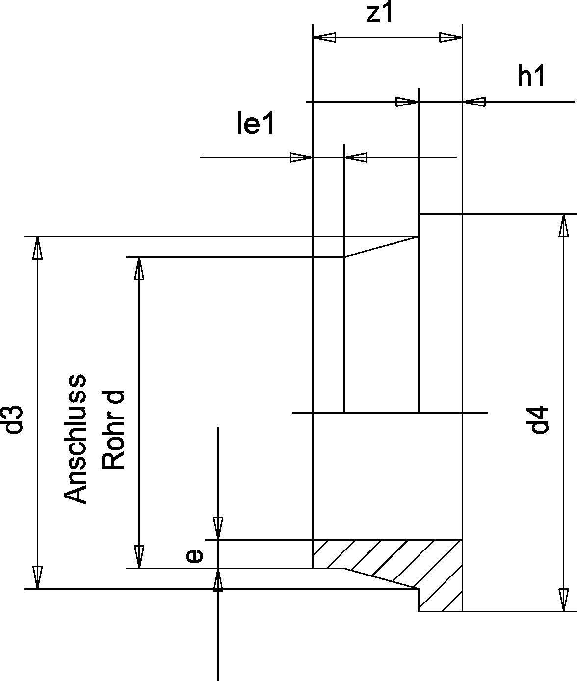 Бурт (Simona) d110 SDR33 PN10