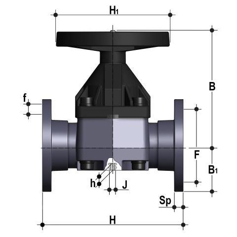 Фото Мембранный клапан VM с втулочными окончаниями d110 (DN90)