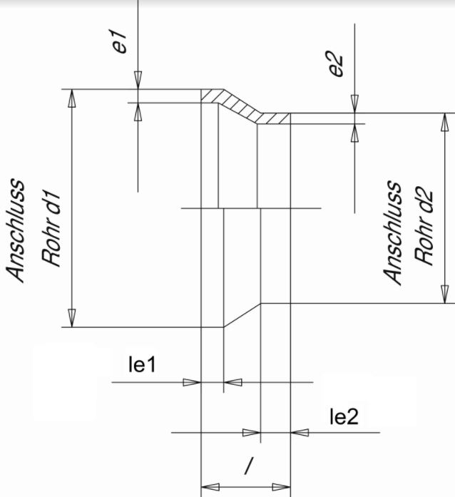 Муфта редукционная (Simona) SDR11 PN6 125x90