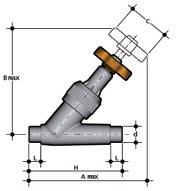 Фото Угловой вентиль VV с втулочными окончаниями d32 (DN25)