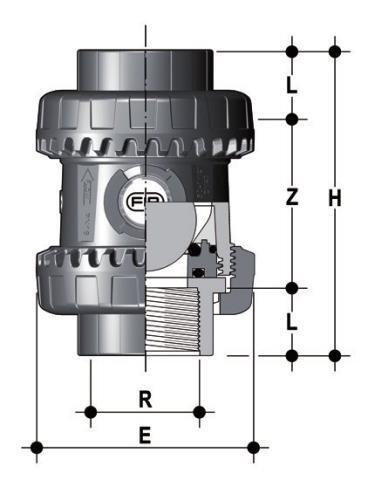Фото Шаровой обратный клапан SXE; с резьбовыми окончаниям R3/4'' (DN20)