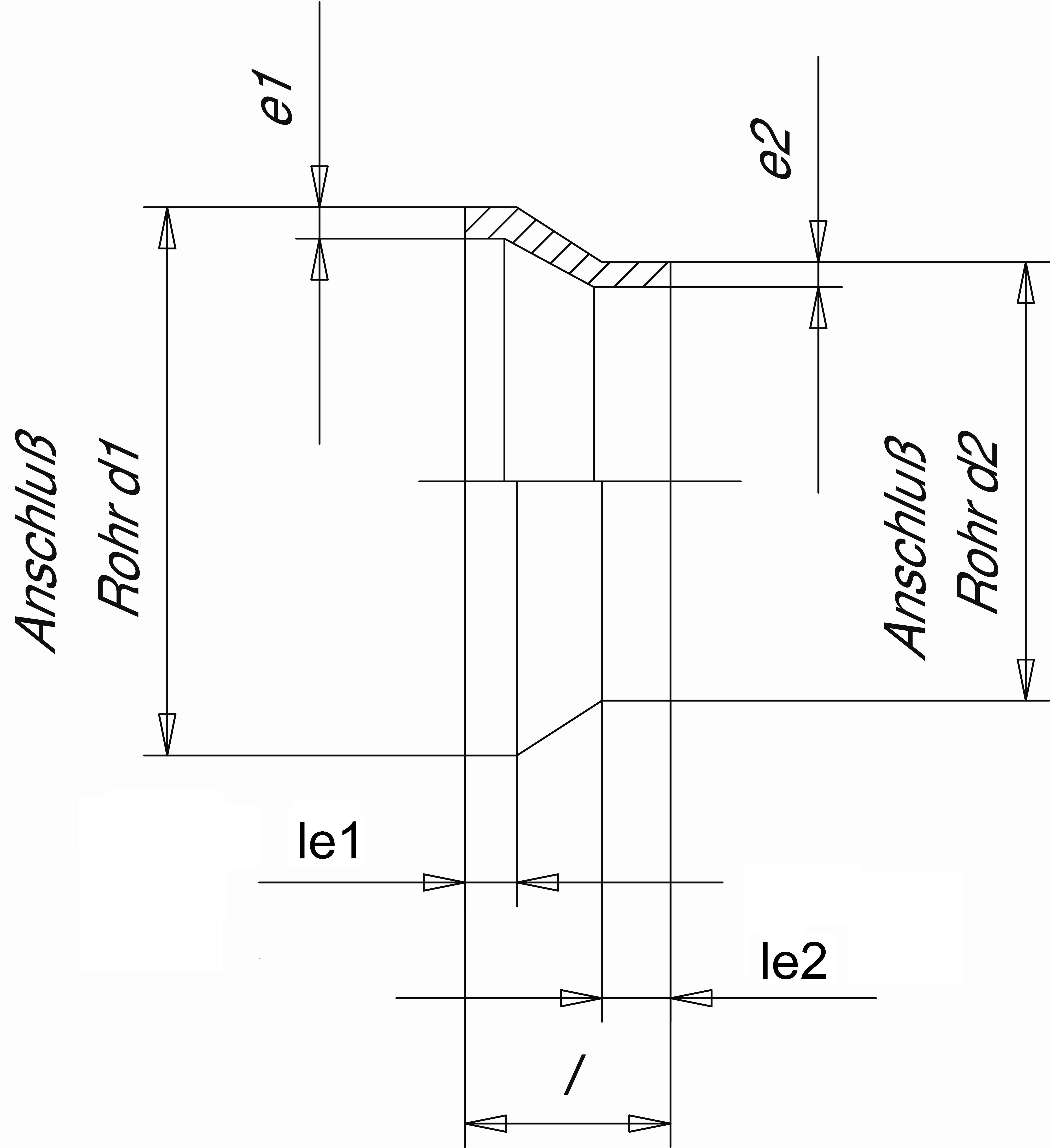 Муфта редукционная (Simona) (Simona) SDR33 PN10 140x110